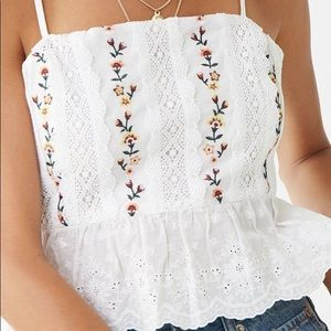 Forever 21 embroidered cami
